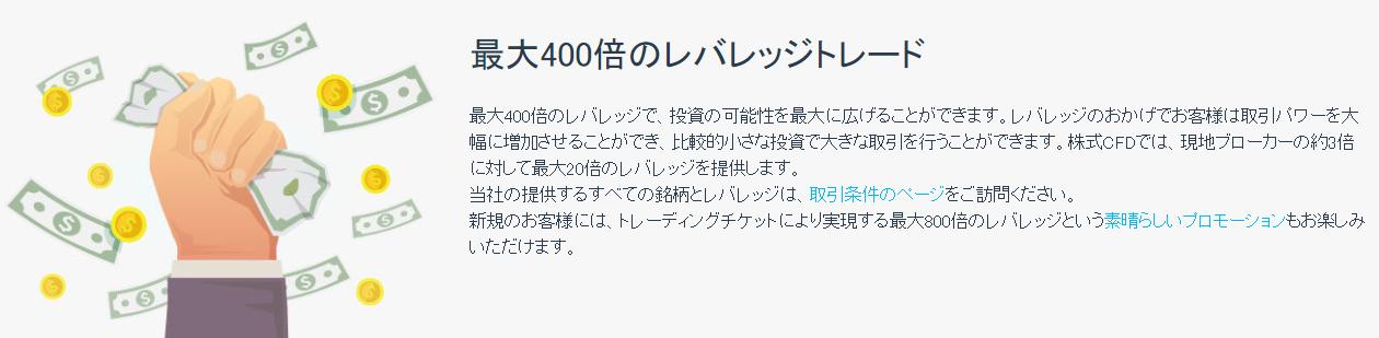 iFOREX 評判_レバレッジのイメージ画像