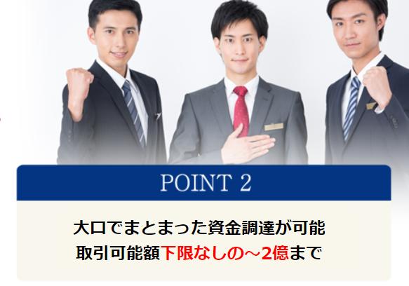 ファクタリング PMG_買取り可能額が下限なし~2億円のイメージ画像