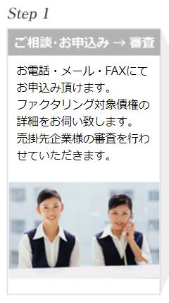 ファクタリング PMG_ファクタリング申込時の流れ①のイメージ画像