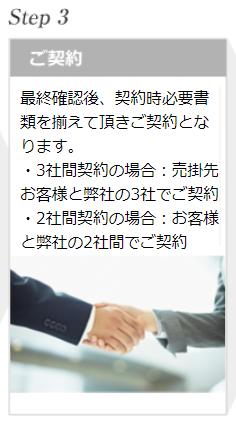 ファクタリング PMG_ファクタリング申込時の流れ③のイメージ画像