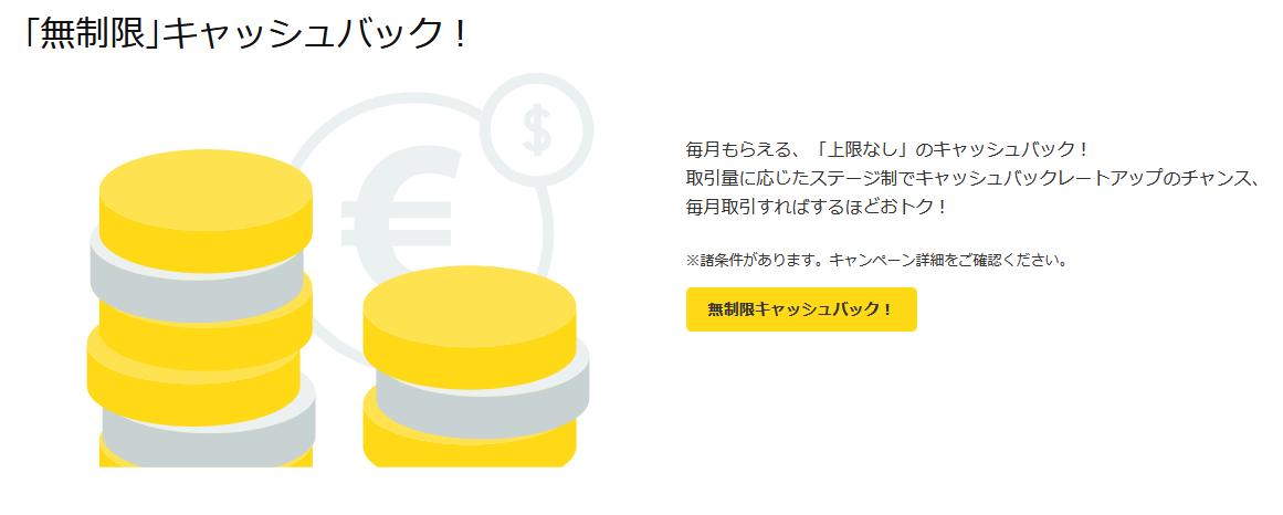 forex.com 評判_無制限キャッシュバックのイメージ画像