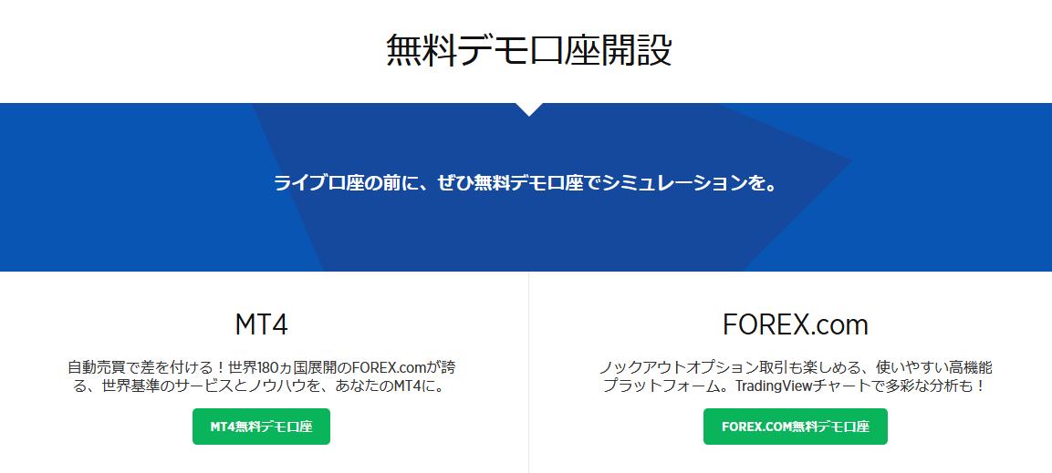 forex.com 評判_デモ口座のイメージ画像
