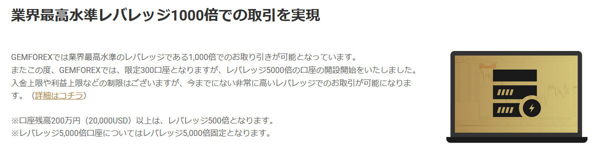 GEM FOREX 評判_ハイレバのイメージ画像