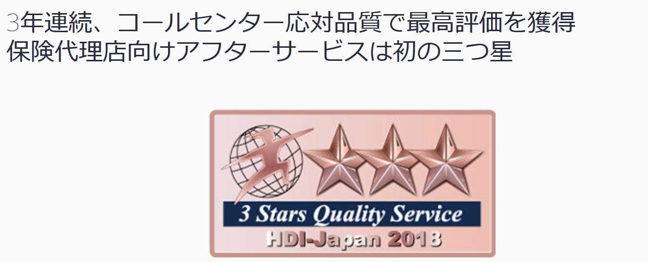 マニュライフ生命 評判_コールセンターが三ツ星評価を受けたイメージ画像