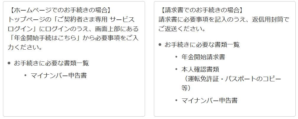 個人年金 日本生命_受け取り手続きの方法に関するイメージ画像
