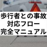 車と歩行者事故マニュアル