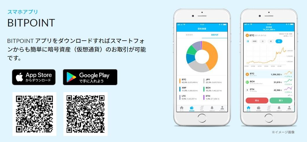 ビットポイント_スマホアプリ