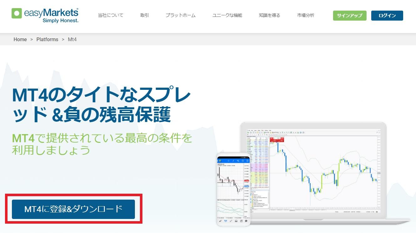 easy Markets MT4_ダウンロード