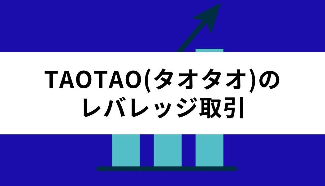TAOTAO_レバレッジ